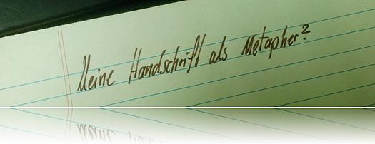 Die Handschriftenmetapher