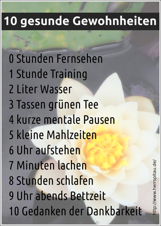 10 gesunde Gewohnheiten