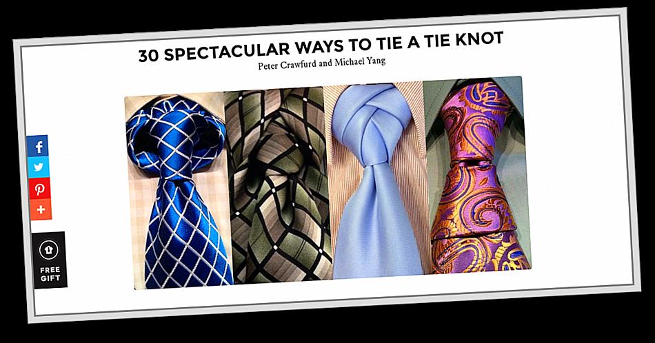 Krawattenknoten…