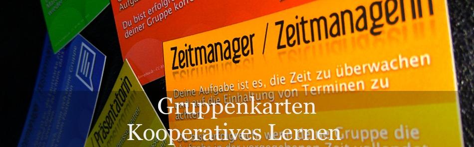 Gruppenkarten für das Kooperative Lernen zum Download