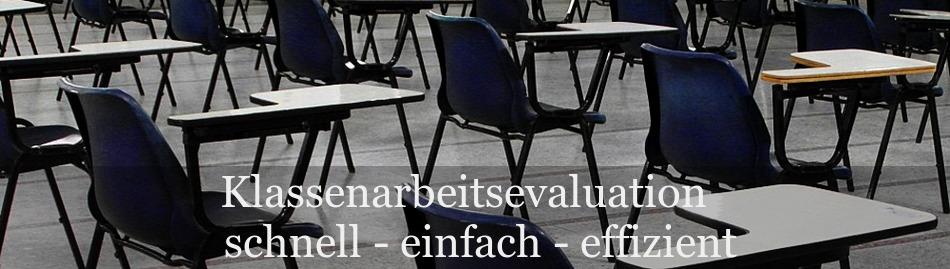 Der Evaluationsbogen für Klassenarbeiten