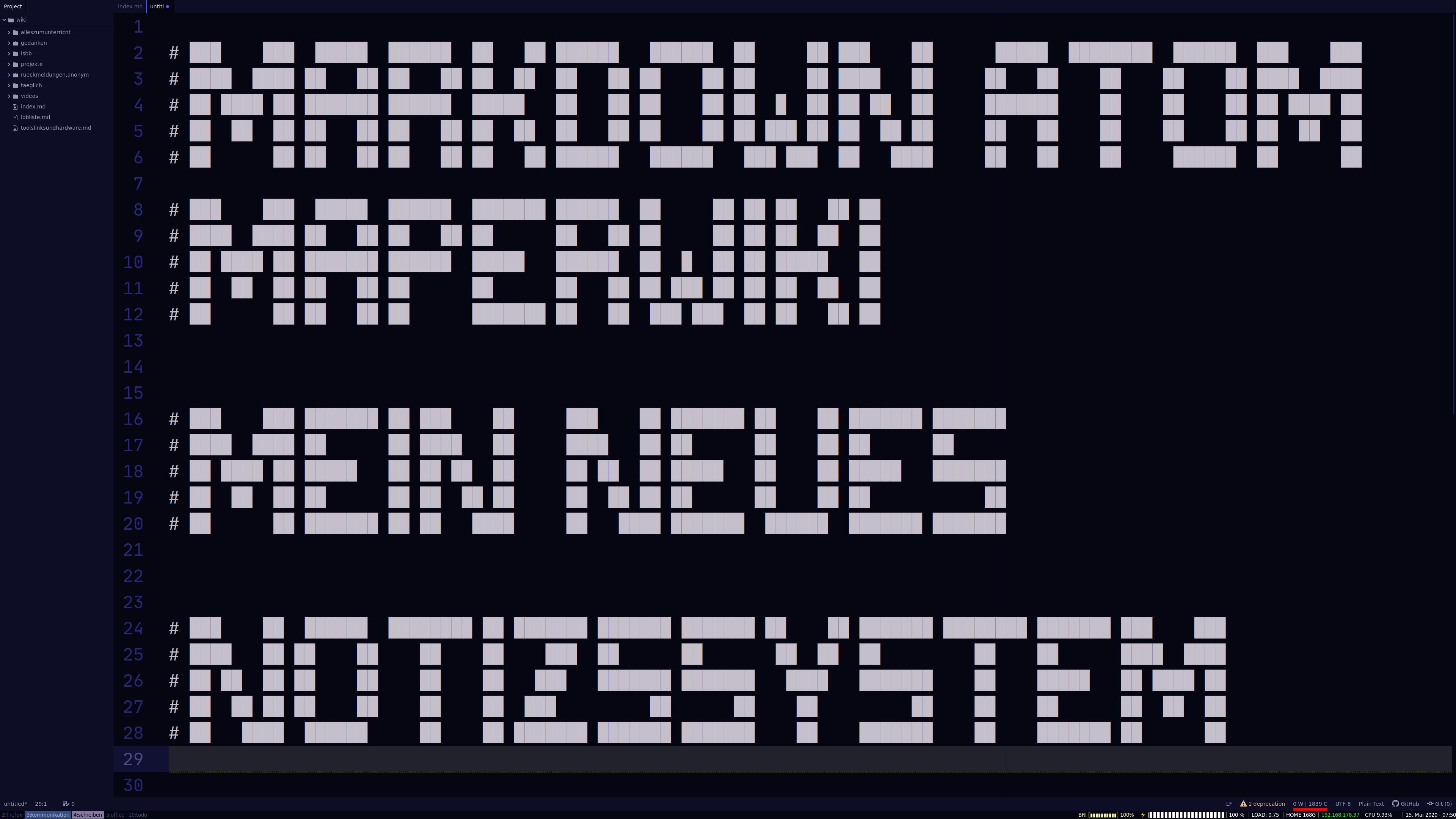 Mein neues Notizsystem